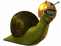 Toon Racing Snail. 3D Render of an Toon Racing Snail Royalty Free Stock Photography