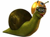 Toon Racing Snail Royalty-vrije Stock Fotografie