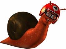 Toon Racing Snail Royalty-vrije Stock Afbeeldingen