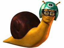 Toon Racing Snail. 3D Render of an Toon Racing Snail Stock Image