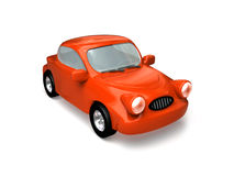 Toon red car. Royalty Free Stock Photo
