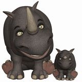 Toon Rhino Royalty Free Stock Image