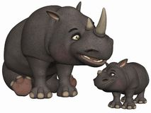 Toon Rhino Royalty Free Stock Photography