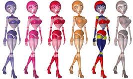 Toon Robot Girl Stock Image