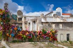 Toon in ruïnes Palacio Belmonte in Lissabon Stock Fotografie