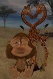 Toon safari. 3d render of Toon safari Stock Photo