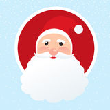 Toon Santa face christmas icon Royalty Free Stock Photo