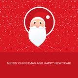 Toon Santa face christmas icon Stock Photos