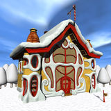 Toon Santas Candy Shop Stock Images