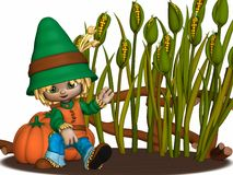 Toon Scarecrow. 3D Render of an Toon Scarecrow Royalty Free Stock Images