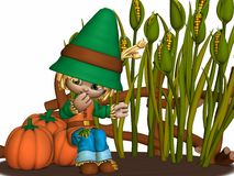 Toon Scarecrow Stock Photo