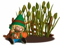 Toon Scarecrow Stock Photo