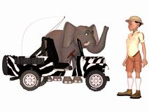 Toon Scene - Safari Stock Photo