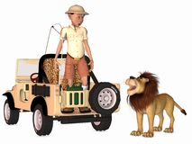 Toon Scene - Safari Royalty Free Stock Images