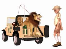 Toon Scene - Safari Royalty Free Stock Photo