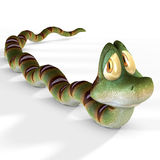 Toon snake. With Clipping Path / Cutting Path Royalty Free Stock Photos