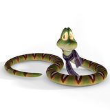 Toon Snake. With Clipping Path / Cutting Path Stock Photos