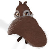 Toon Squirrel #08. A very cute squirrel. lovely face and funny animations. With Clipping Path / Cutting Path vector illustration