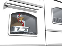 Free Toon Thanksgiving Turkey In Oven Stock Photo - 16099880