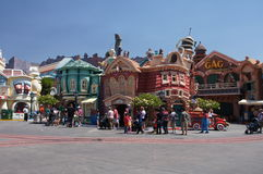 Toon Town. Tourist visiting Toon Town at Disneyland in California Royalty Free Stock Images