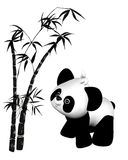 Toon Toy Panda and Bamboo Royalty Free Stock Image