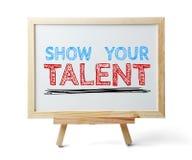 Toon uw talent royalty-vrije stock fotografie