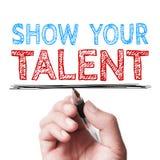 Toon uw talent stock afbeelding