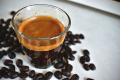 Toon van de espresso de uitstekende kleur Royalty-vrije Stock Fotografie