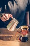 Toon van Druppelkoffie Stock Afbeeldingen