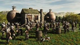 Toon Viking Dwarf Horde bij de Brouwerij royalty-vrije illustratie