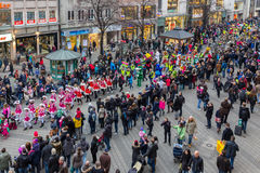 Toon Walk–Mascots Parade-Nuremberg 2016. Toon Walk –Comic Parade during International Toy Fair -Nuremberg,Germany Stock Image
