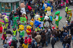 Toon Walk – Comic Parade-Nuremberg 2016. Toon Walk –Comic Parade during International Toy Fair -Nuremberg,Germany Royalty Free Stock Image