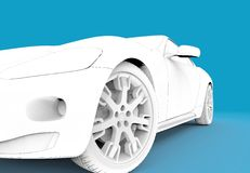 Toon white car Royalty Free Stock Photography