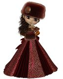 Toon Winter Princess en rouge illustration libre de droits