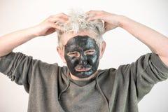 Toon zuivere emoties niet een masker royalty-vrije stock foto