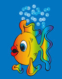 Toonimal Fish-Vector Royalty Free Stock Images