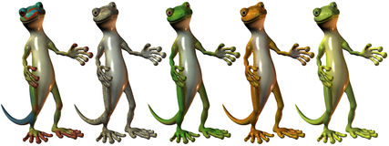 Toonimal Gecko Stock Images