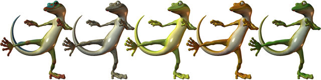 Toonimal Gecko Royalty Free Stock Photos