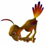 Toonimal Hatchling Phoenix. 3D Computer Render of an Toonimal Hatchling Phoenix Royalty Free Stock Images