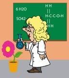 Toonimal Scientist Royalty Free Stock Images