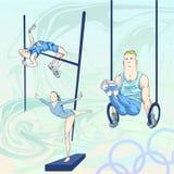 toons för 1 olympic packe stock illustrationer