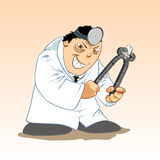 Toons médicos - dentista malvado Fotografía de archivo libre de regalías