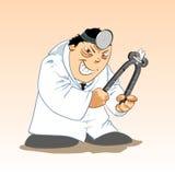 Toons medici - dentista diabolico Fotografia Stock Libera da Diritti