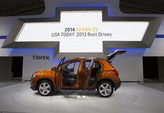 2015 toont Chevrolet Trax bij Internationale Auto van New York van 2014 Stock Foto