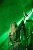Toont de Arkona Speciale 15de Verjaardag levend bij Insubria-Festival Stock Foto's