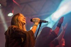 Toont de Arkona Speciale 15de Verjaardag levend bij Insubria-Festival Stock Afbeeldingen