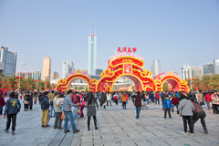 2016 toont de Bloem van het de Lentefestival in Tianhe Stock Foto's