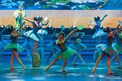Toont de cirkel ventilator-ballet-algemene de Vakbonds` s Dag van de Arbeid van de perenbloesem Royalty-vrije Stock Afbeelding