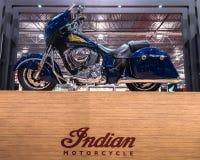 2014 toont de Indische Leider, de Motorfiets van Michigan Royalty-vrije Stock Afbeelding