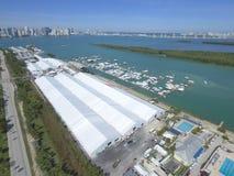 Toont de Internationale Boot van Miami luchtfoto Royalty-vrije Stock Fotografie